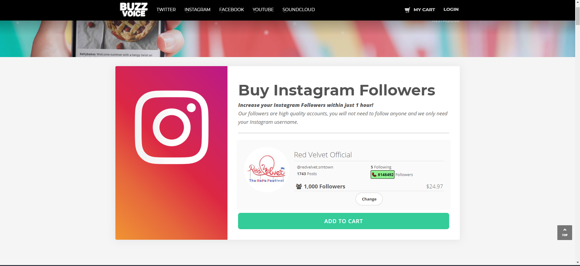 Buy IG Followers from BuzzVoice