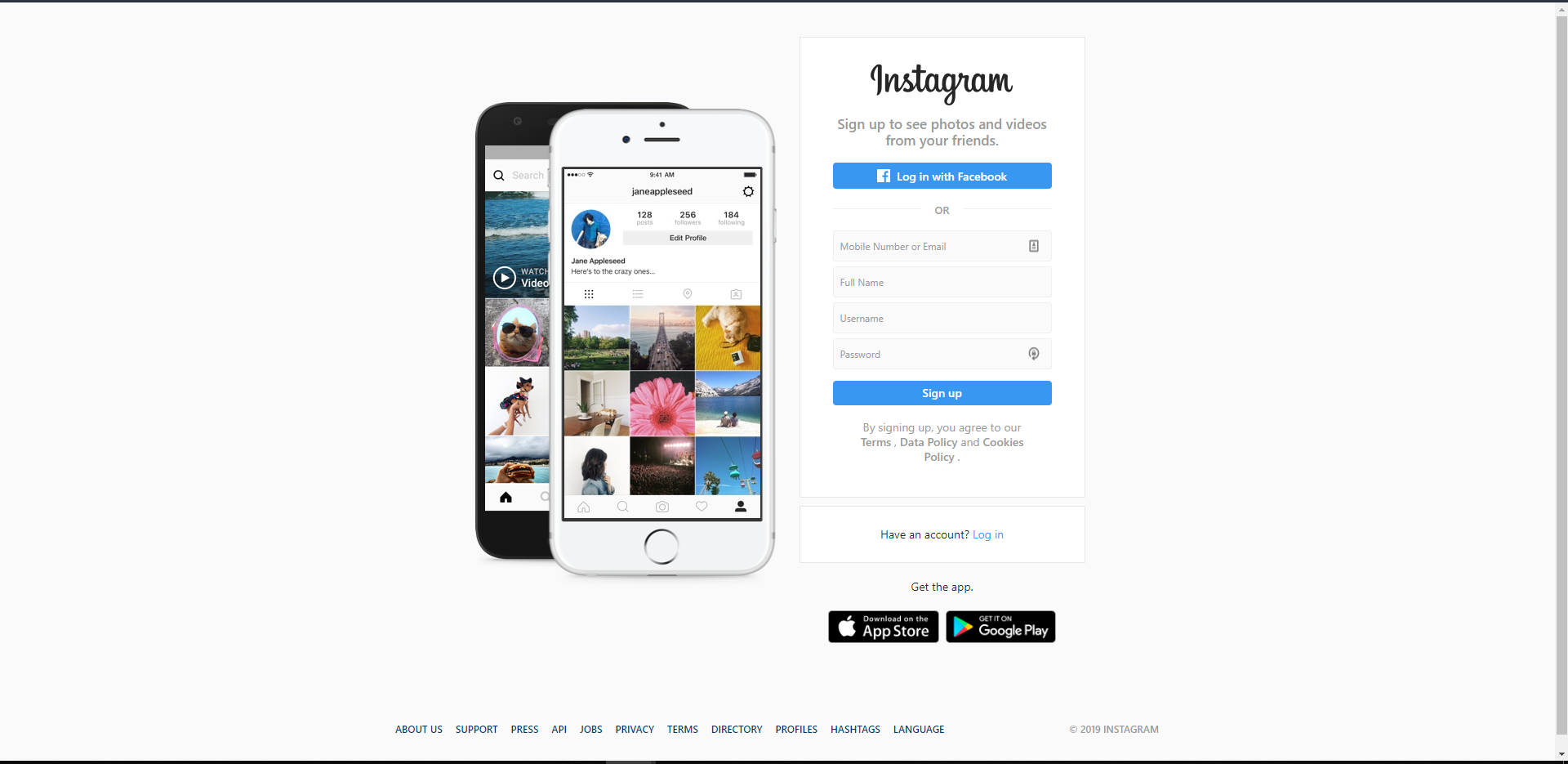 Log in IG from Desktop