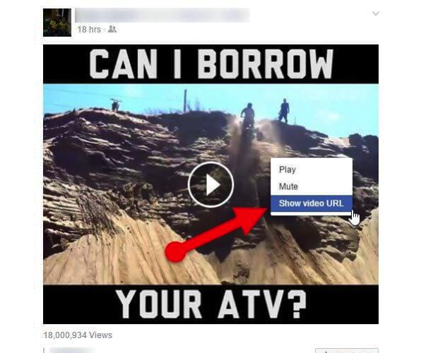 How to get Facebook Video link on Browser